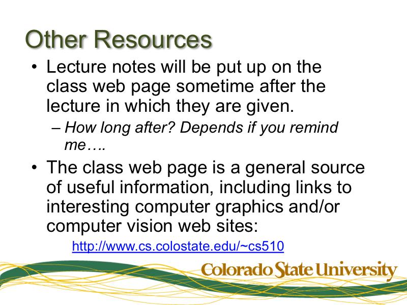 CS 510 Slide Packet 01