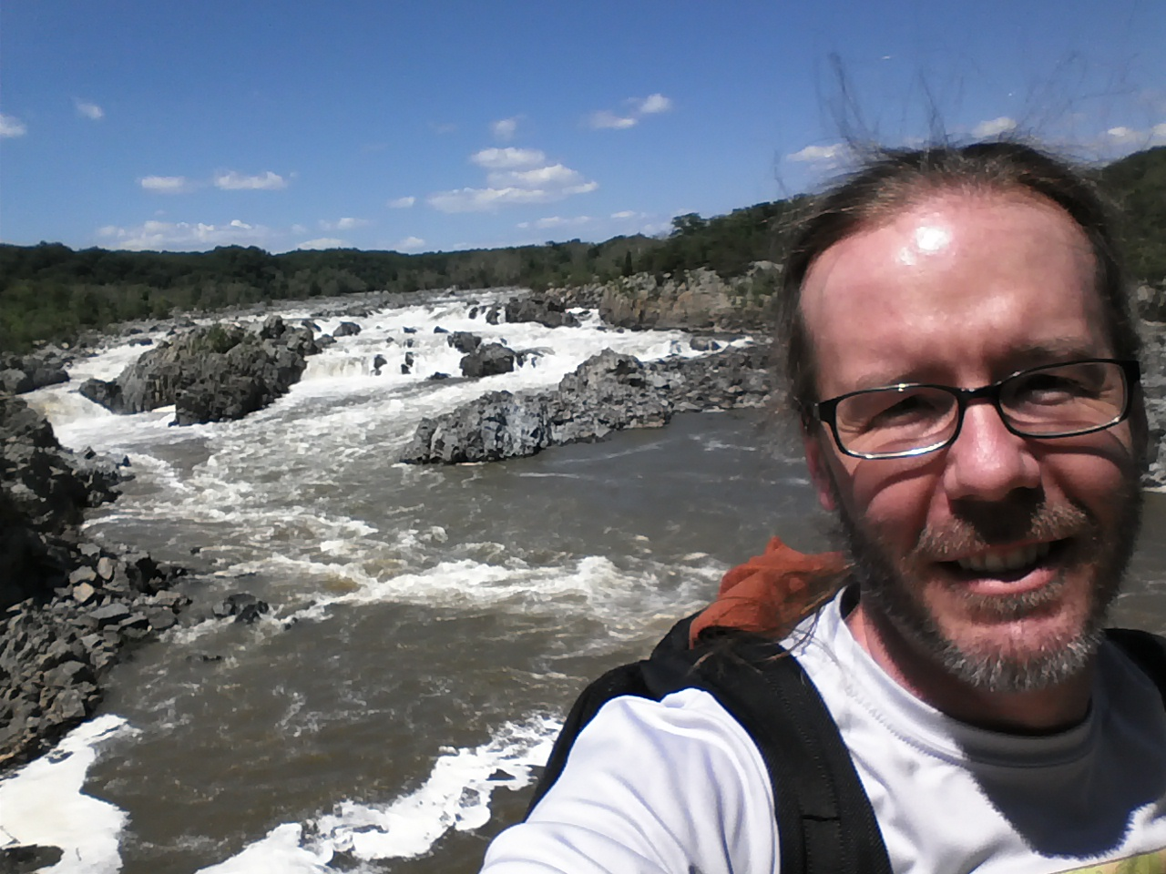 A snap of me at Great Falls, VA